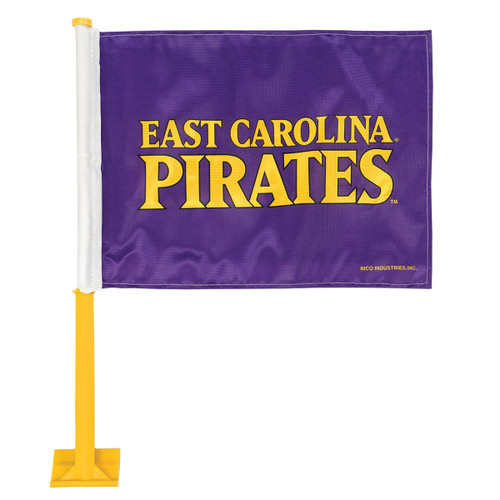 East Carolina Gold Pole Car Flag