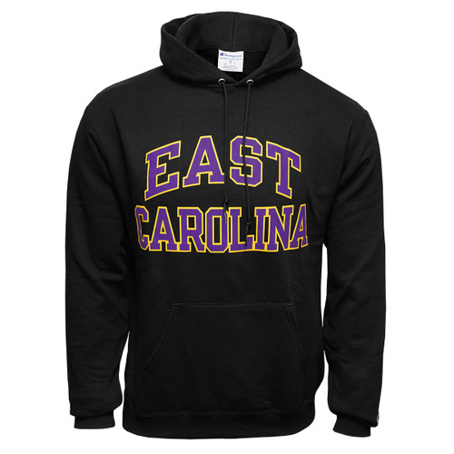 Black East Carolina Arch Hoodie