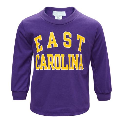 Purple Toddler East Carolina Arch Tee