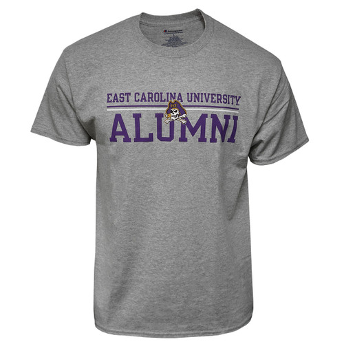 Grey East Carolina Alumni Bar Tee