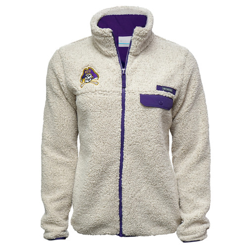 Ladies Sherpa Mountainside Full Zip Jacket with Jolly Roger