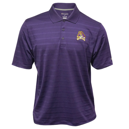 Textured Purple Jolly Roger Polo