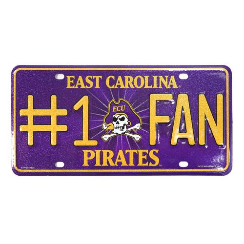 #1 FAN East Carolina Pirates License Plate