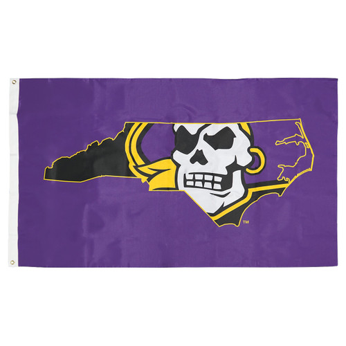 Purple Pirate State Of Mind Flag