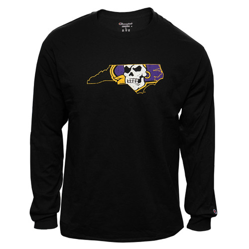 Black Long Sleeve Pirate State Of Mind Tee