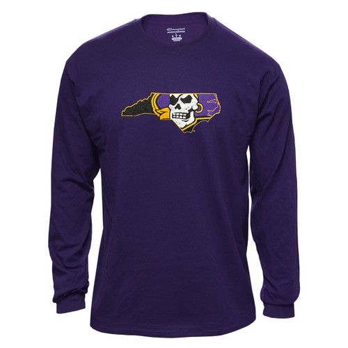 Purple Long Sleeve Pirate Nation Tee