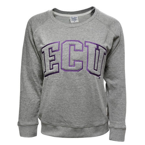 Ladies French Terry ECU Arch Outline Crew