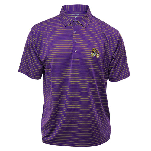 Purple with Gold Pin Stripe Jolly Roger Polo