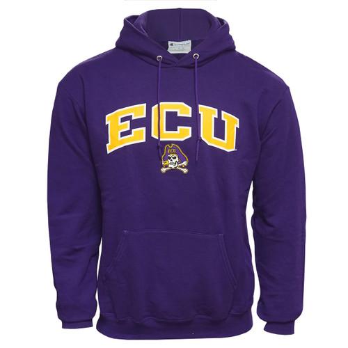 Purple ECU Arch & Jolly Roger Hoodie