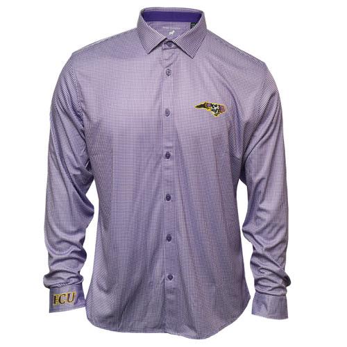 Purple & White Gingham Pirate State Of Mind Dress Shirt