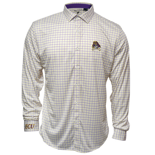 Purple & Gold Checked Jolly Roger Dress shirt