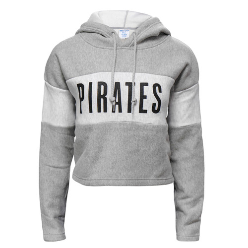 Ladies Pirates Two Tone Crop Top Hoodie