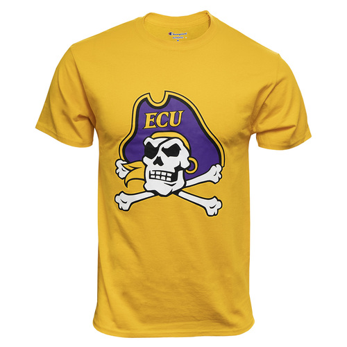 Gold Tee with Large Jolly Roger