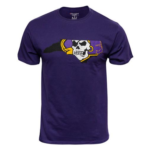 Purple Distressed Pirate Nation Tee