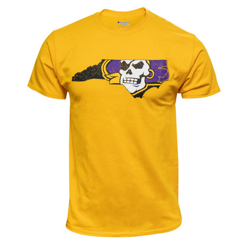Gold Distressed Pirate Nation Tee