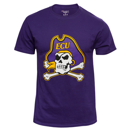 Purple Tee with Large Jolly Roger