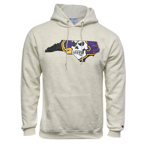 Oatmeal Distressed Pirate Nation Hoodie