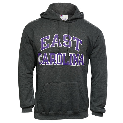 Charcoal East Carolina Arch Hoodie