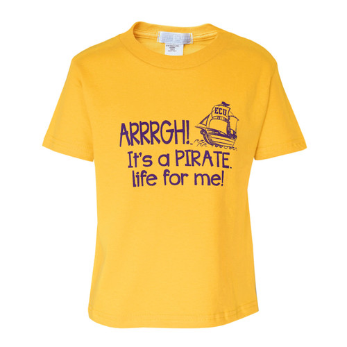 Gold Toddler Pirate Life For Me! Tee