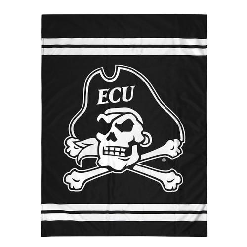 Black & White Jolly Roger House Flag with Bars