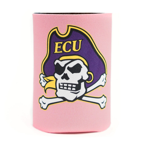 Hot Pink Jolly Roger Koozie