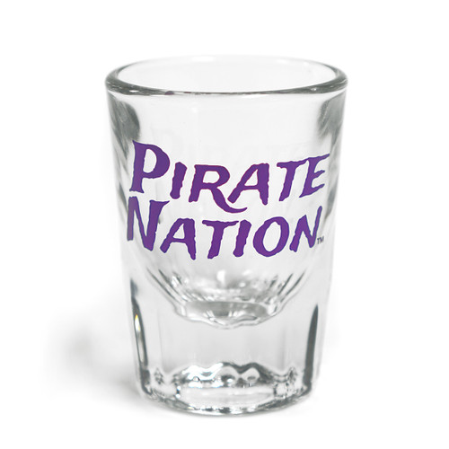 Heavy Fluted Pirate Nation Shot Glass