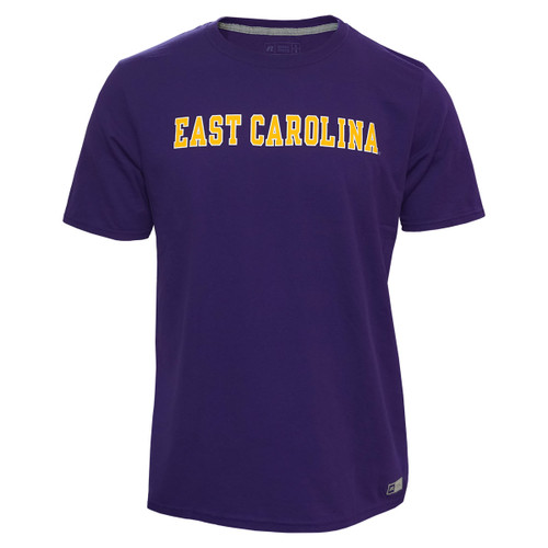 Purple Tee with Gold & White East Carolina