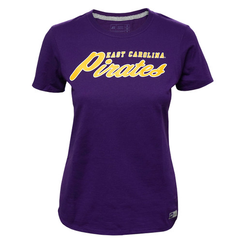 Purple Ladies Pirates Script Tee