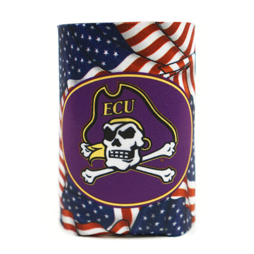 American Flags Jolly Roger Koozie