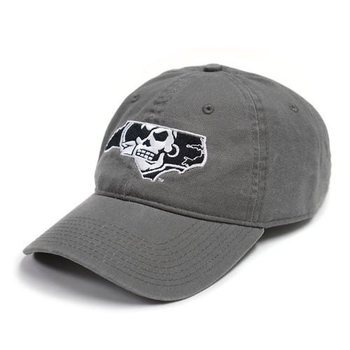 Charcoal, Black, & White Pirate Nation Cap