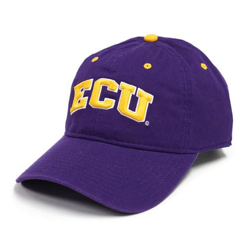 Adjustable Purple Twill ECU Arch Cap