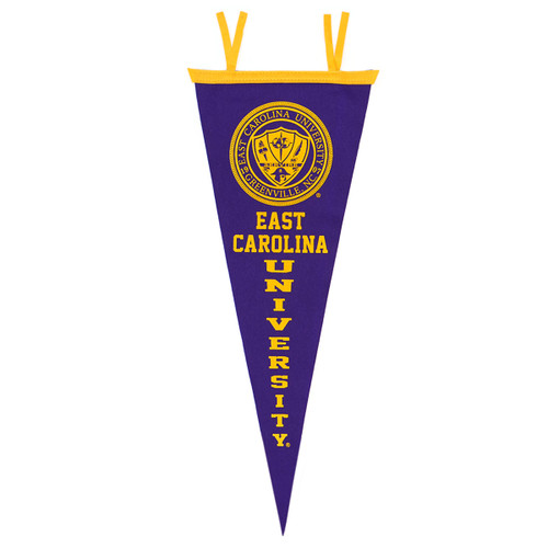 Purple East Carolina & Seal Vertical Pennant