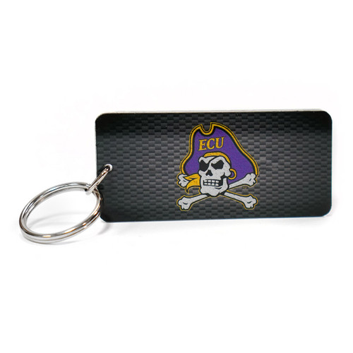 Black Carbon Pattern Jolly Roger Keychain