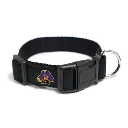 Black Pirate Head Dog Collar