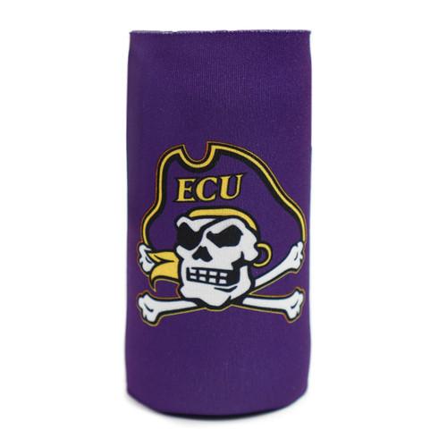 Slim Purple Jolly Roger Koozie