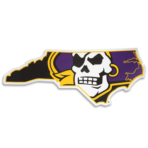Large Pirate State Of Mind Car Magnet