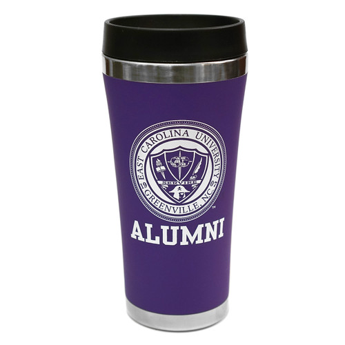 Purple ECU Alumni Seal Tumbler