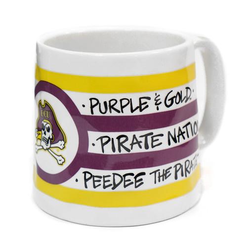 Purple & Gold Striped Jolly Roger Mug