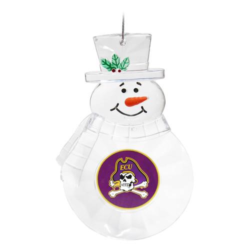 Clear Acrylic ECU Snowman Ornament