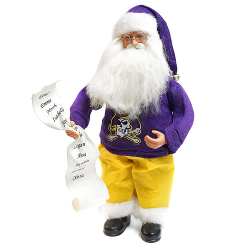 ECU Santa with List Figurine