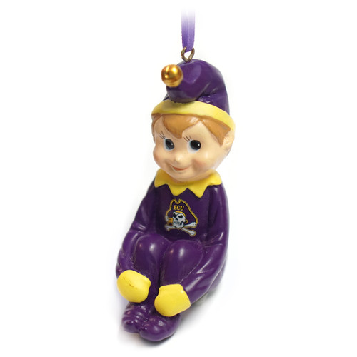 Sitting Pixie Jolly Roger Ornament