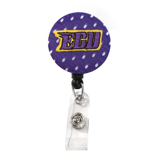 Purple Jersey ECU Badge Reel