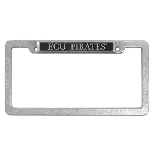 Pewter ECU Pirates License Frame