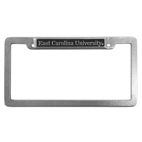 Pewter East Carolina University License Frame