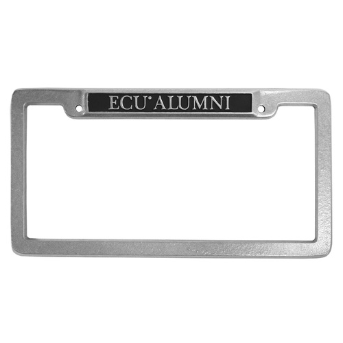 Pewter ECU Alumni License Frame