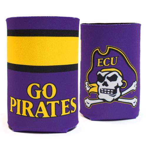 Go Pirates Purple & Gold Banner Koozie