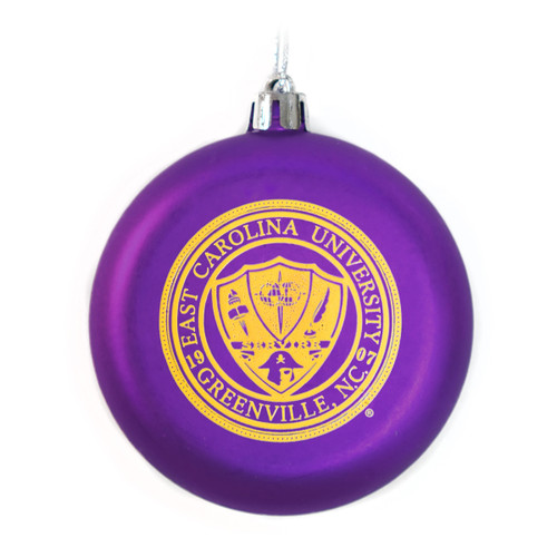 Flat Frosted Purple Seal Ornament
