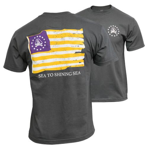 Charcoal Sea To Shining Sea Flag Tee