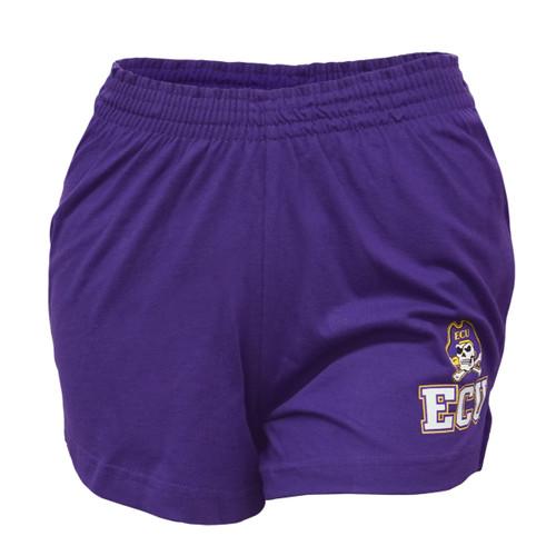 Purple Cotton ECU Ladies Shorts