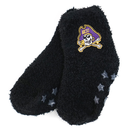 Fuzzy Black Kids Jolly Roger House Socks